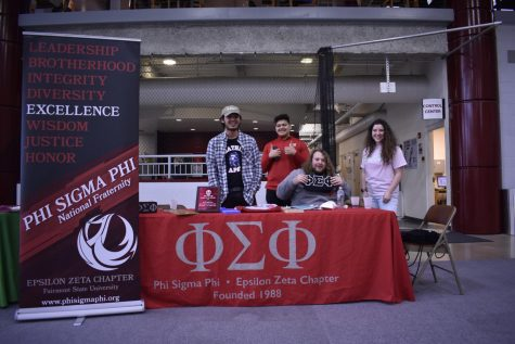Members of Phi Sigma Phi, a Fraternity at Fairmont State.