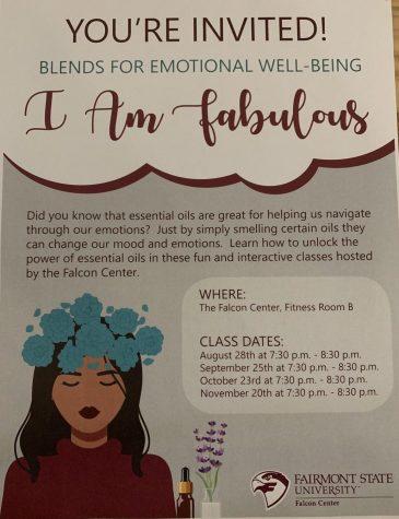 """I am Fabulous"" Essential Oils Class @ The Falcon Center, Fitness Room B"