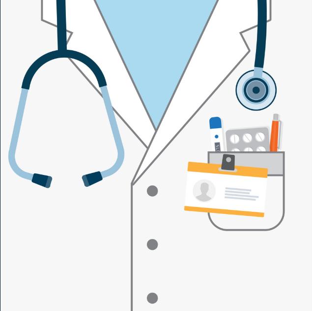 Image of a white nurse's coat