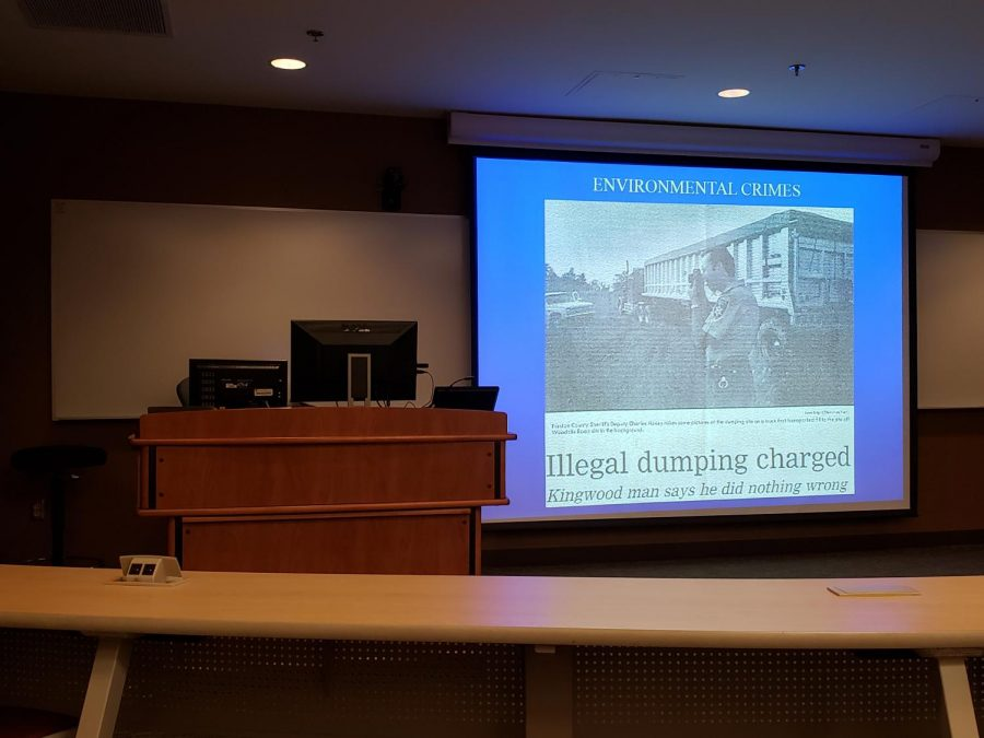 John Hando talks Environmental Crimes
