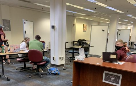 Fairmont State University students and their tutors work in the Tutoring and Testing Center, located on the second floor of the Ruth Ann Musick Library.